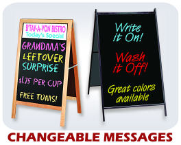 Changeable Message A-frames
