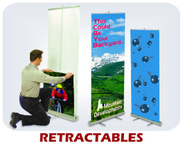 Retractable/Rollup banner displays
