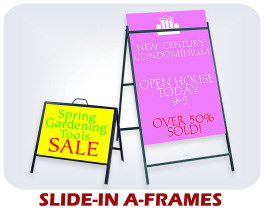 Slide-In A-frames