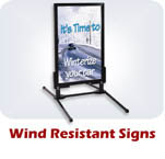Wind Resistant Signs
