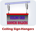 Ceiling Sign-Hangers